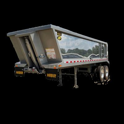 Gray aluminum trailer